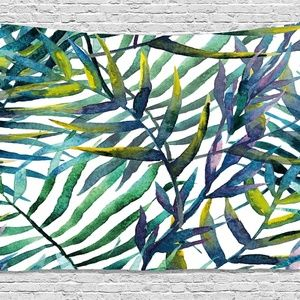 Tapestry Tropical Leaves Wall Hanging Backdrop
